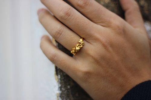 Little Band of Rocks Gold Ring - Designer Imogen Belfield - Shop at www.aprilandthebear.com