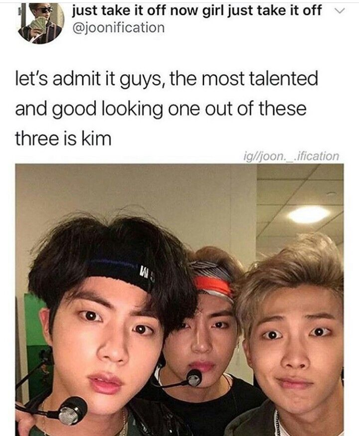 "Lmao. (If you're not a BTS ARMY, you wouldn't know that all of them are ""Kim"") (Kim Seojin, Kim Taehyung, and Kim Namjoon)❤️"