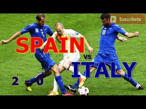 Italy vs Spain 2-0 Eurocopa France 2016 Octavos de Final