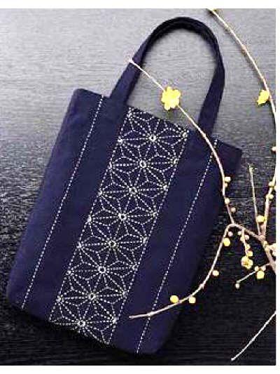 star sashiko bag