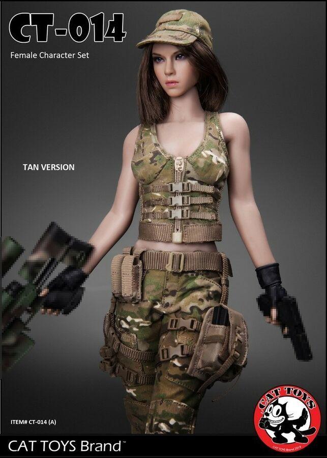 1//6 Scale CATTOYS CT014A Military Female Box Cloth Set A Tan No body