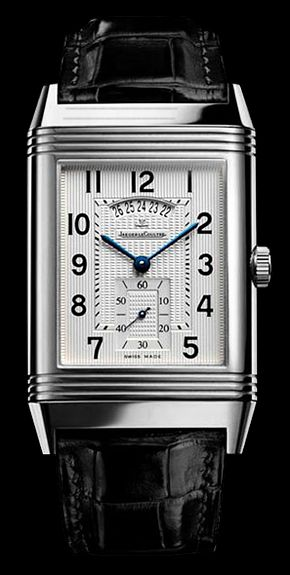 Jeager Le Coultre grande reverso 986 Duoface S/S Hand wound Available at Cellini Jewelers