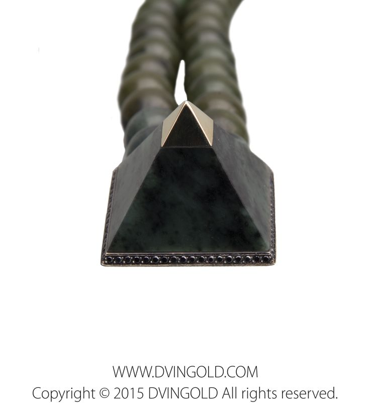 Inspired by the heritage of Ancient Egypt, DVINGOLD introduces a pyramid with Eye of Horus as a symbol of protection, royal power and good health. #dvingold #jewelry #wadjet #dubai #qatar #moscow #yerevan #prayerbeads #gold #luxury  #exclusive #pyramid #handcrafted #jade #diamond #tasbih #четки #чётки #ювелирныеизделия