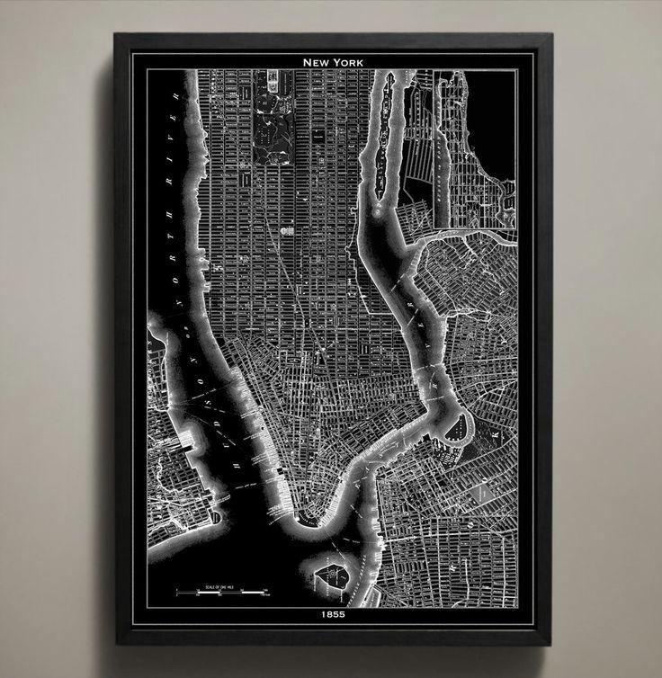 Map Print NEW YORK CITY 37 best