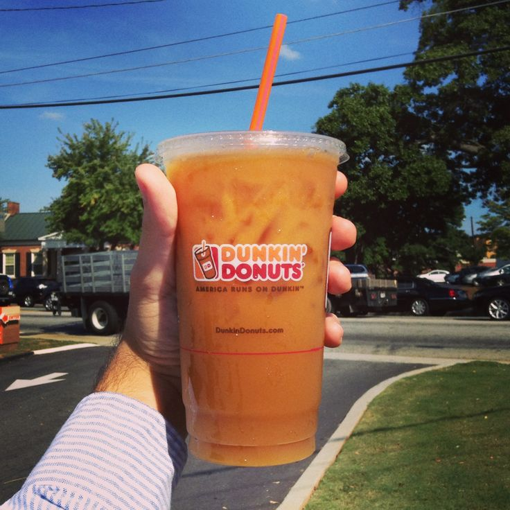 Time to start the day with a Dunkin' Iced Coffee!