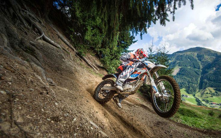 KTM Freeride E-XC, 2017 motos, 4k, motocross, bicicleta elétrica, offroad, KTM
