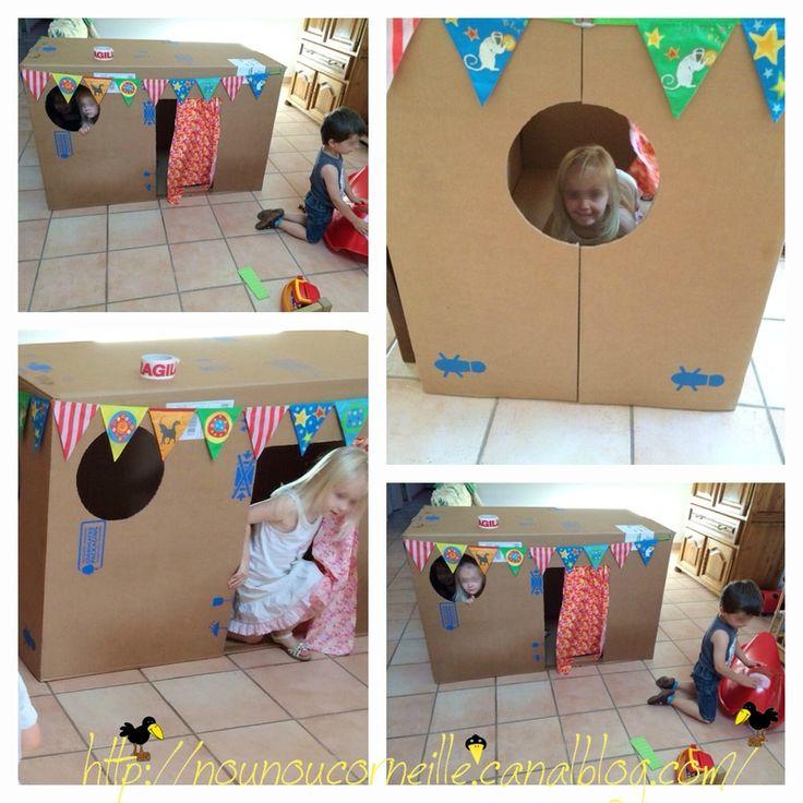 cabane en carton r cup maison en carton kids rugs. Black Bedroom Furniture Sets. Home Design Ideas