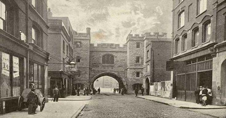 An old photograph of St John's Gate.