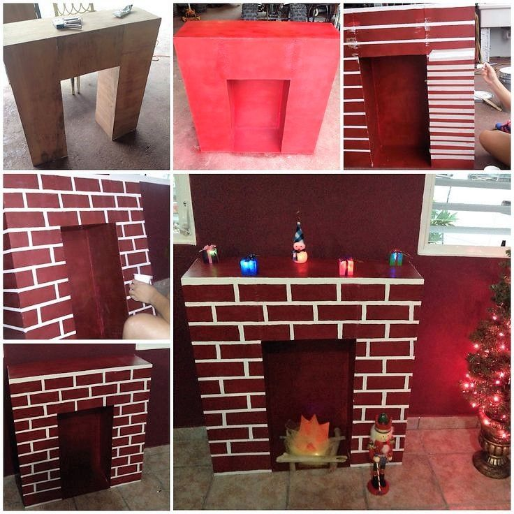 Faire une chemin e en carton pour no l chemin e en carton chemin e et carton - Acheter une cheminee en carton ...