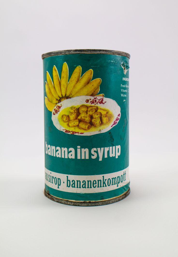 """DDR Museum - Museum: Objektdatenbank - """"Bananen in der Dose"""" Copyright: DDR Museum, Berlin. Eine kommerzielle Nutzung des Bildes ist nicht erlaubt, but feel free to repin it!"""
