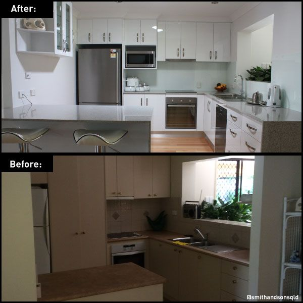 Kitchen transformation by Smith  Sons Gold Coast Central #smithandsonsqld #remodel #homeimprovement #renovation #inspiration #kichen