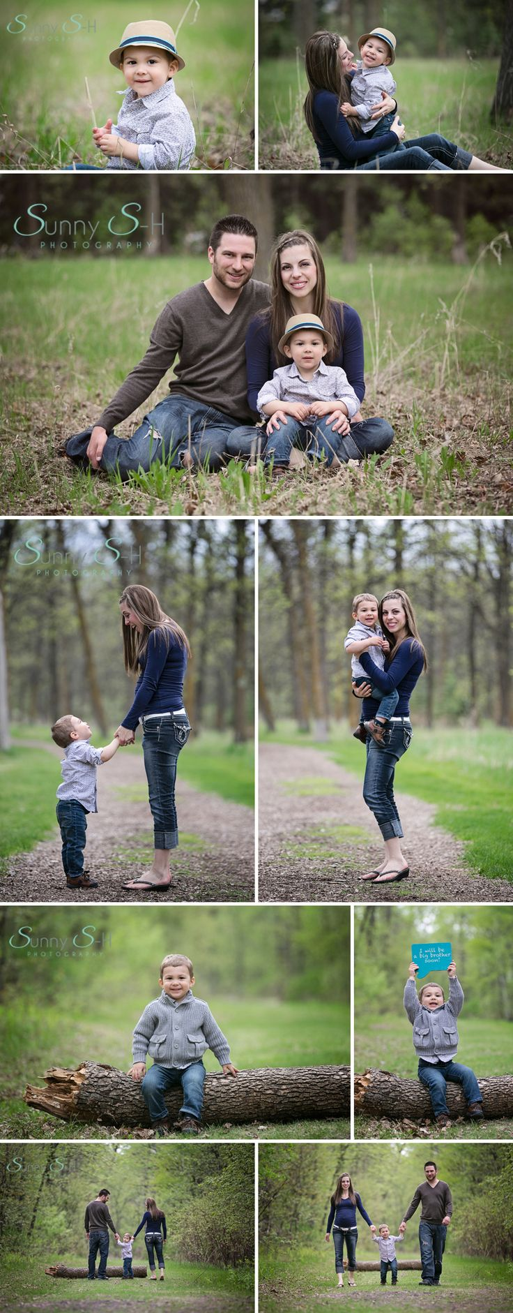 Cute outdoor family shoot.  Winnipeg Family Photographer, Sunny S-H Photography