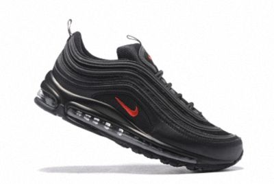 buy popular 1f247 51cbb Mens Womens 2018 Spring Summer Nike Air Max 97 Black University Red