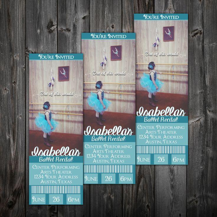Ballet Ticket Invitation