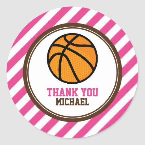 Pink-Basketball-Party danken Ihnen, Umbauten | zu bevorzugen Zazzle   – Baby shower