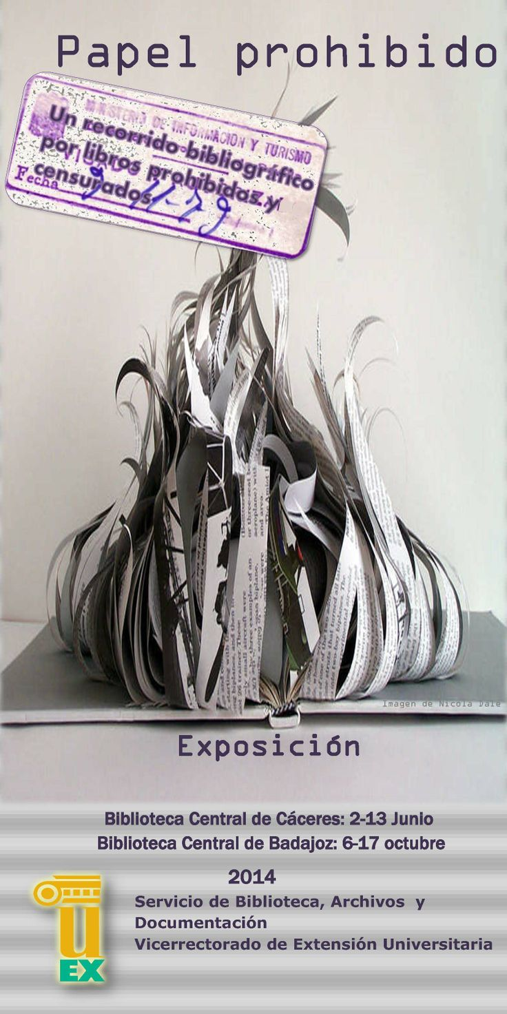 """Exposición bibliográfica: """"Papel prohibido"""" #libros_prohibidos #censura #exposiciones"""