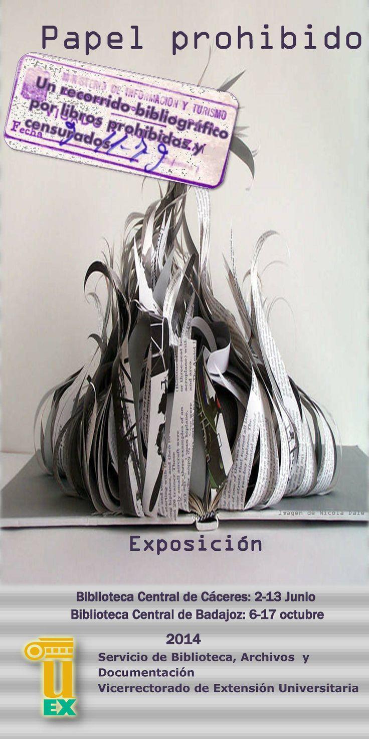"""Exposición bibliográfica """"Papel prohibido..."""" #censura #libros_prohibidos #uex #universidad #biblioteca"""