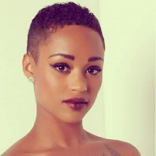 Shaved Hairstyles For Black Women Magnificent 45 Best Buzzed Images On Pinterest  Shaved Hair Bald Heads And