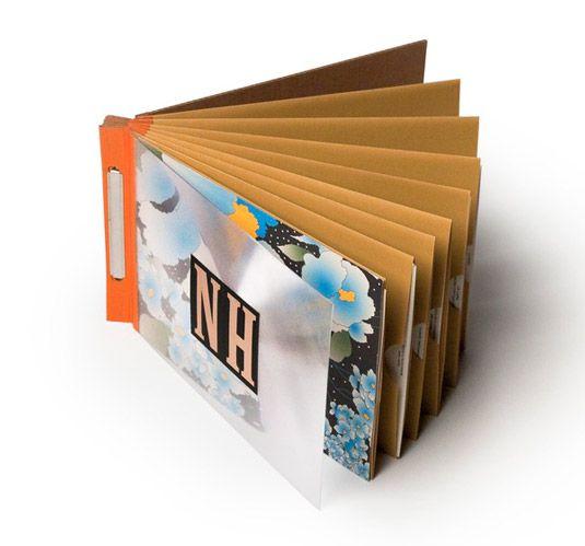 Creativos diseños de portafolios creativos hechos de papel