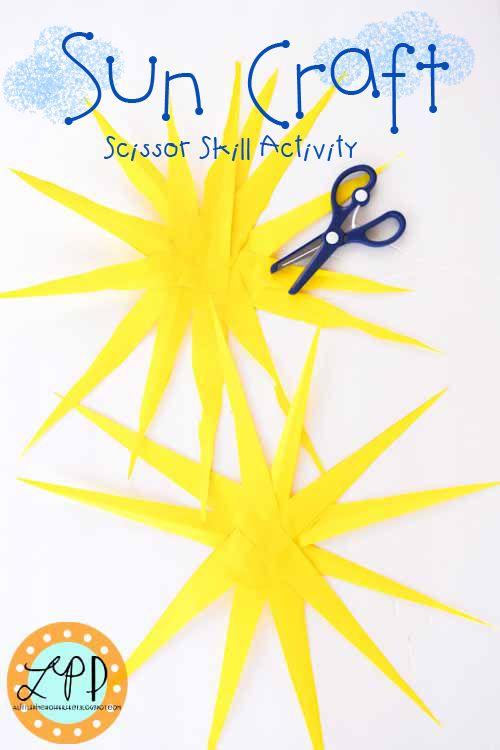 Sun Craft Scissor Skill Activity | A Little Pinch of Perfect