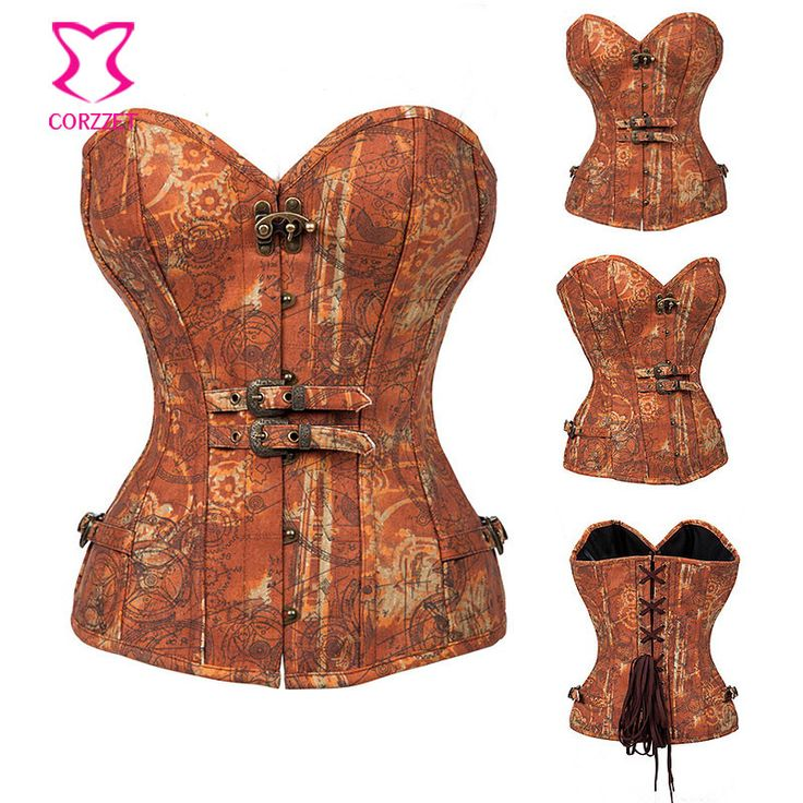 Burlesque Einstein Inspired Print Steampunk Corset Steel Boned Waist Slimming Corsets and Bustiers Sexy Korsett Gothic Clothing