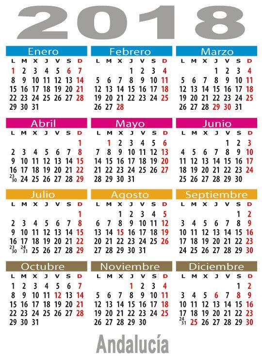 Calendario Laboral 2019 Andalucia.Calendario Laboral En Espana Calendario Laboral 2018 Calendario