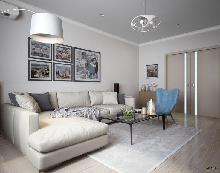 Дизайн современной гостиной   Студия LESH (дизайн гостиной, оформление гостиной, маленькая гостиная, современная гостиная, угловой диван)