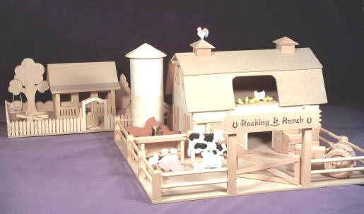 Woodworking Pattern Western Ranch & Farm House Child's Toy ...