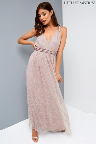 ca76f69f7392 Buy Little Mistress Multiway Bridesmaid Lace Maxi Dress from the Next UK  online shop