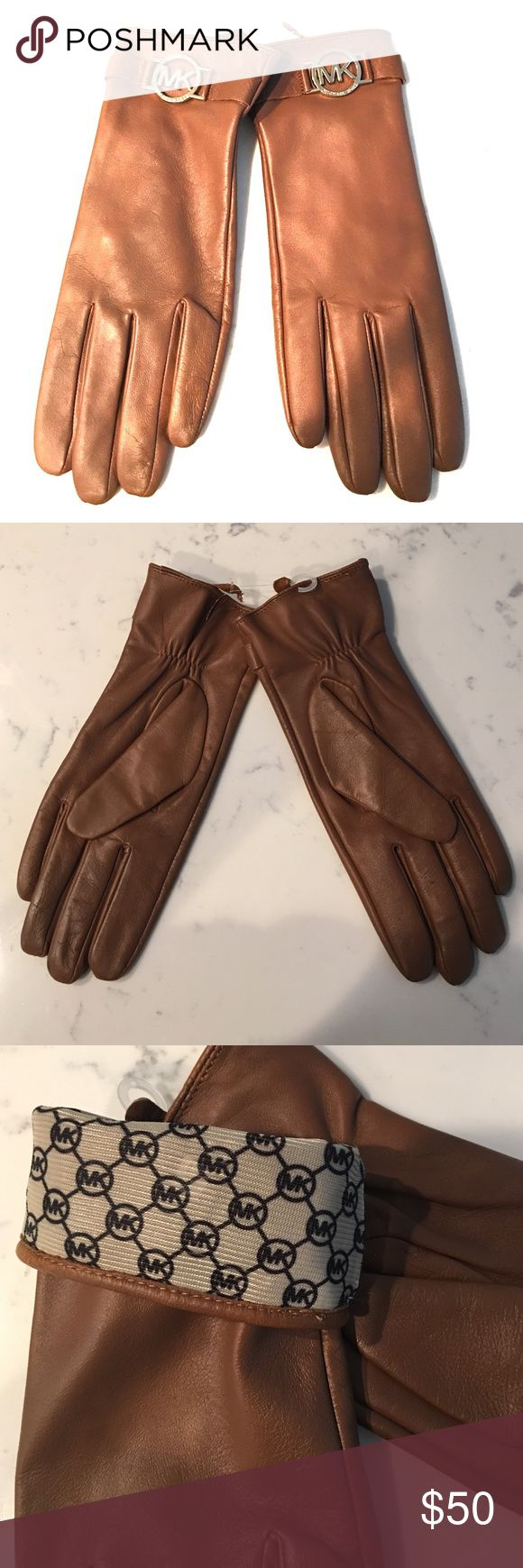 Ladies leather gloves extra small - Michael Kors Genuine Leather Gloves Nwt