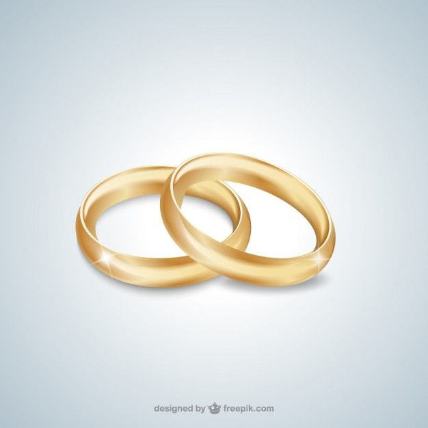Gold wedding rings Free Vector
