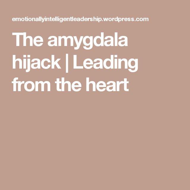 The amygdala hijack   Leading from the heart