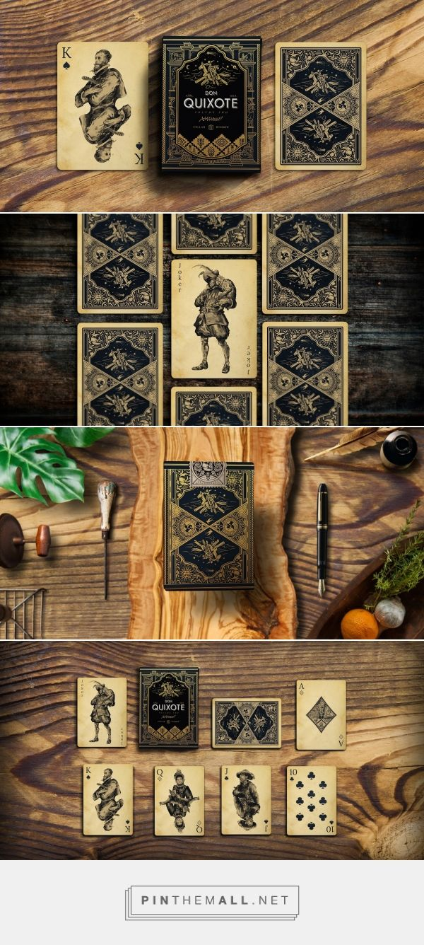 Don Quixote Playing Cards Vol.2 - Clavileño Deck -Packaging of the World - Creative Package Design Gallery - http://www.packagingoftheworld.com/2017/02/don-quixote-playing-cards-vol2.html