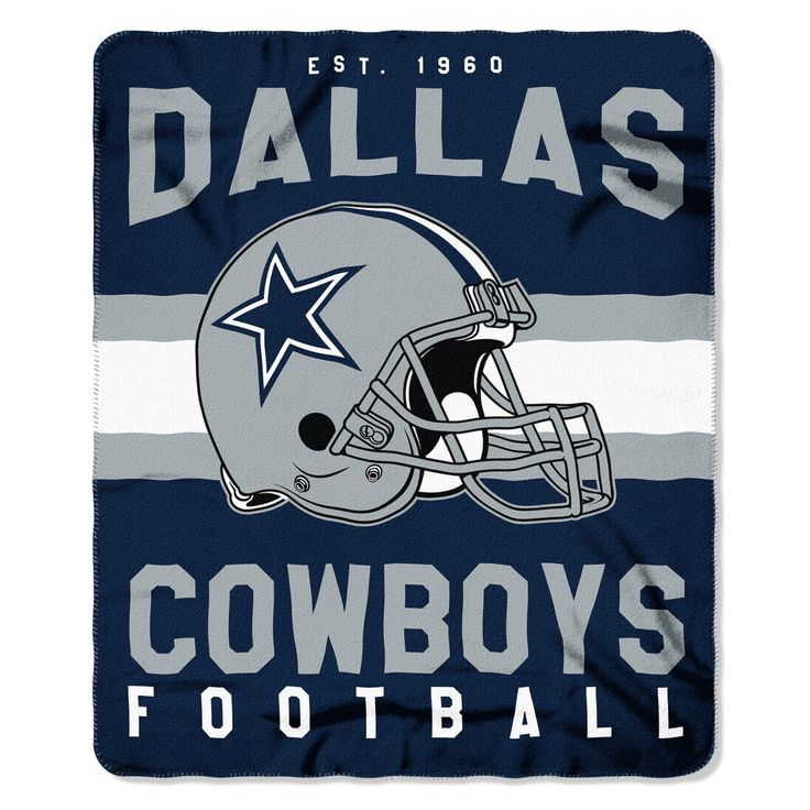 New! Dallas Cowboys Blanket 50x60 Fleece Singular Design #DallasCowboys