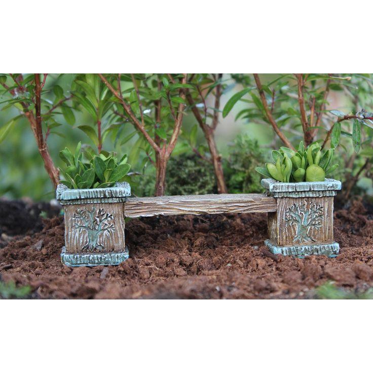 Fairy Garden Miniature Tree Bench With Planters   My Fairy Gardens