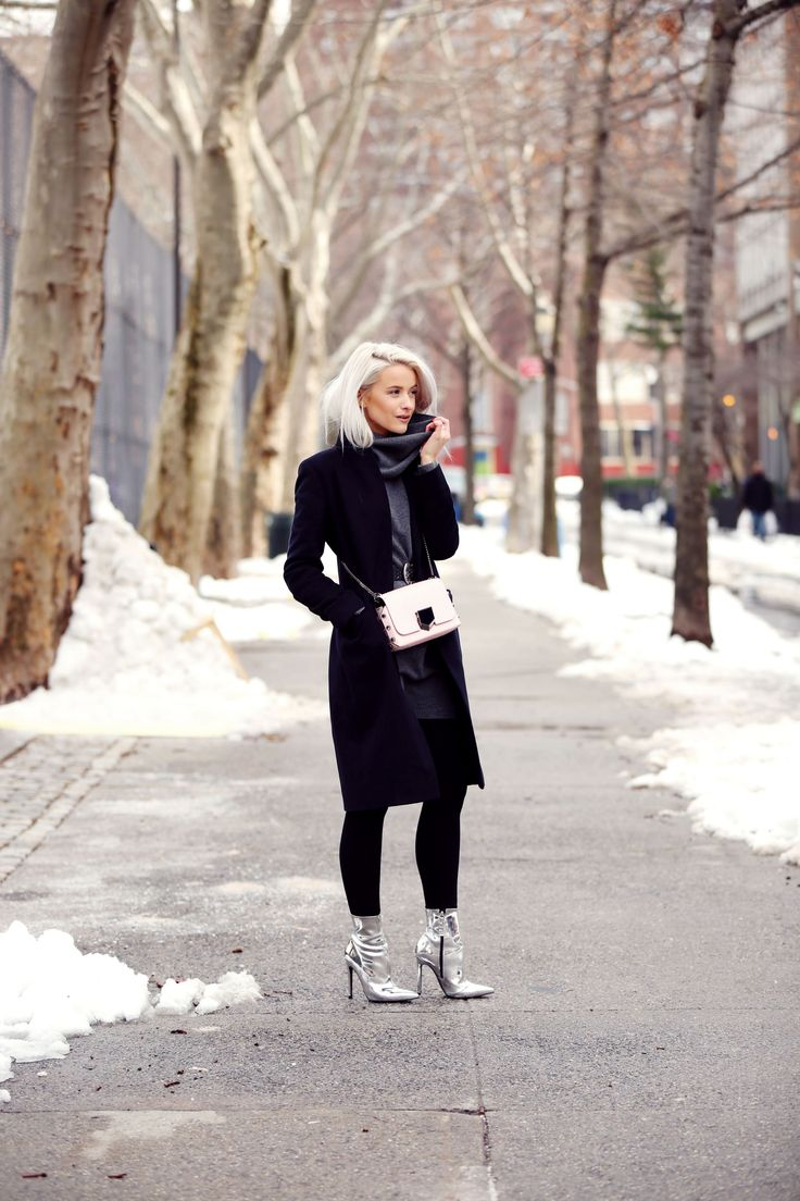 I love this look so much! It's my classic look with a bold shoe addition and enough layers to survive the snow!