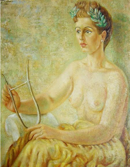 "Retrato de la escritora mexicana Guadalupe ""Pita"" Amor (1918-2000) por Juan Soriano"