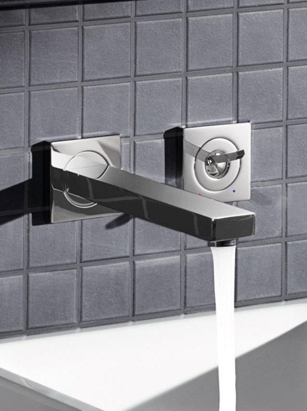 Grohe Eurocube Joy Die Waschtischarmatur Zur Wandmontage Zeigt