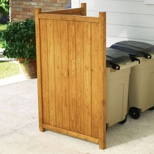Garbage Can Enclosure Fence   Bing Images