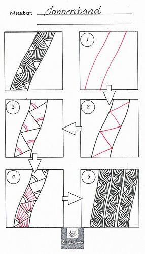 Tangle pattern: Sonnenband