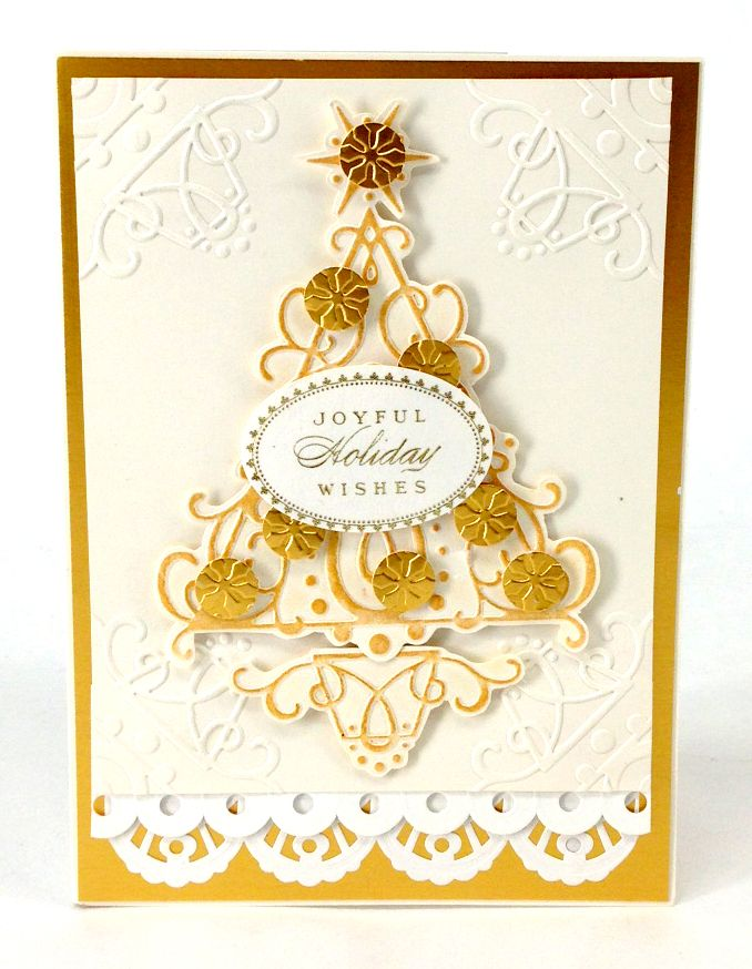 Anna Griffin Christmas embossing