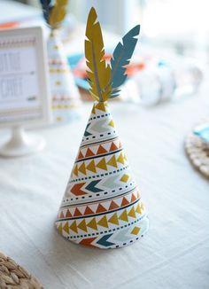 Tribal Little Brave Man themed baby shower via Kara's Party Ideas KarasPartyIdeas.com #tribalbabyshower (26)