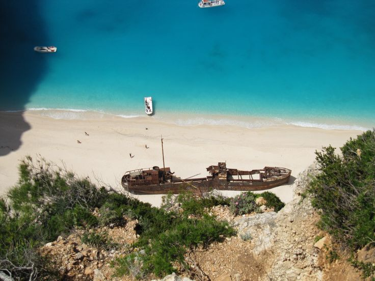 The famous shipwreck of Navagio, Zakinthos, Greece