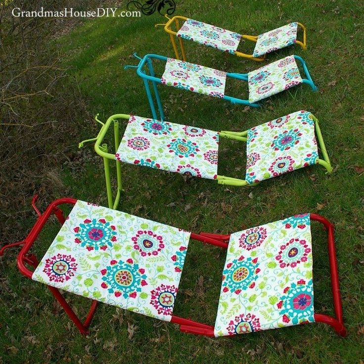 You might want to pick up some cheap tablecloths at Walmart when you see her brilliant backyard idea!