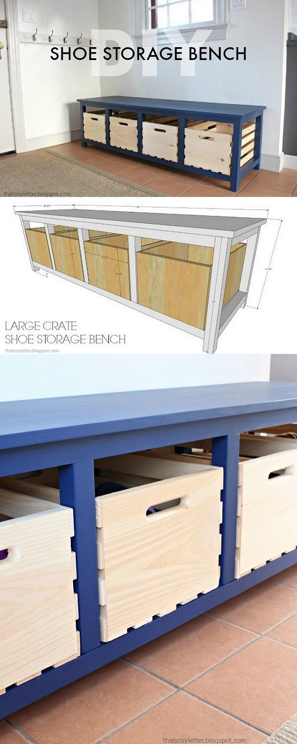 Check out how to make a great DIY storage bench from crates @istandarddesign