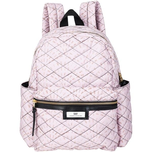 Et DAY Birger et Mikkelsen Gweneth Quilt Backpack , Pink ($135) ❤ liked on Polyvore featuring bags, backpacks, pink, day pack backpack, quilted zipper pouch, quilted backpack, backpack travel bag and travel pouch