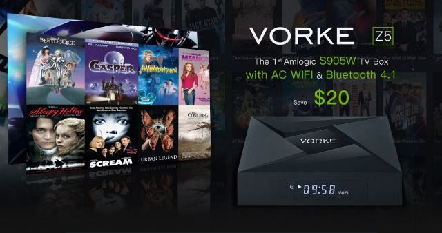 New promotion with two new Android TV Boxes from VORKE called VORKE Z5 and VORKE Z6 Plus , which are now available in attractive. VORKE Z5...