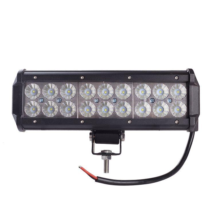 best price 9inch 54w cree chip led light bar spot flood combo beam offroad light 12v 24v work lamp #atv #led #light #bar