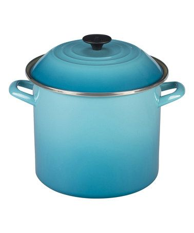 Can gorgeous pieces like this get one excited about using them to cook? I I think these may....Another great find on #zulily! Caribbean 10-Qt. Stockpot #zulilyfinds