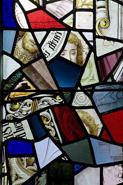 Stained glass conundrum, Saint Mark's Chadderton UK